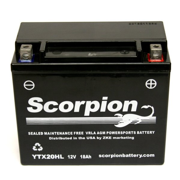 YTX20HL-BS Scorpion 12 Volt Powersport Battery