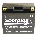 YT12B-4 Scorpion 12v 130 CCA Sealed AGM Motorcycle Battery