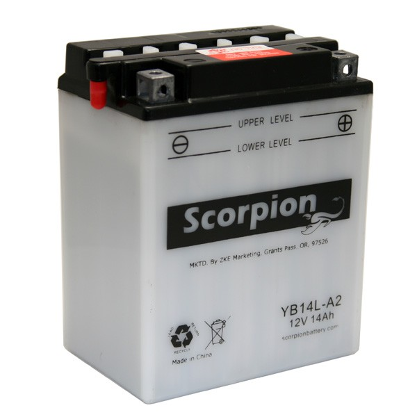 Yb14l A2 Battery Scorpion 12 Volt Motorcycle Batteries