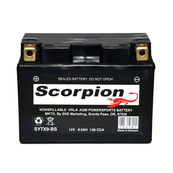 Ytx9 Bs Battery Scorpion 12 Volt Motorcycle Batteries